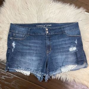 Vanilla Star Midrise Shortie Shorts Plus Size 20